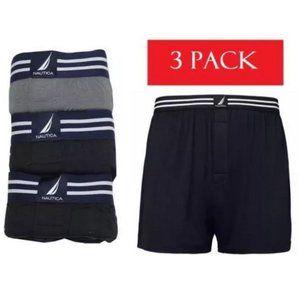 Nautica Men's Cotton Modal Boxer 3-Pack